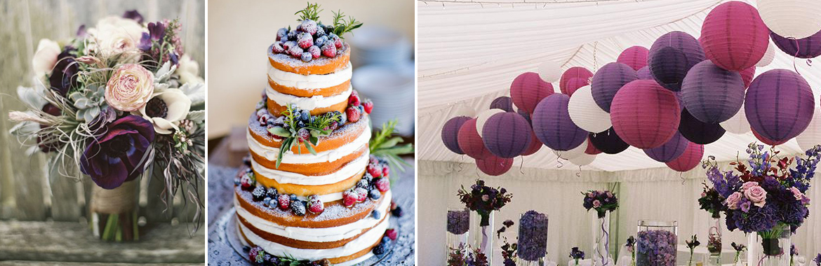 Ideas for purple wedding colour scheme