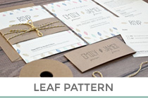 leaf pattern wedding invitation