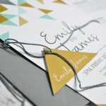 simple geometric wedding invitation and stationery