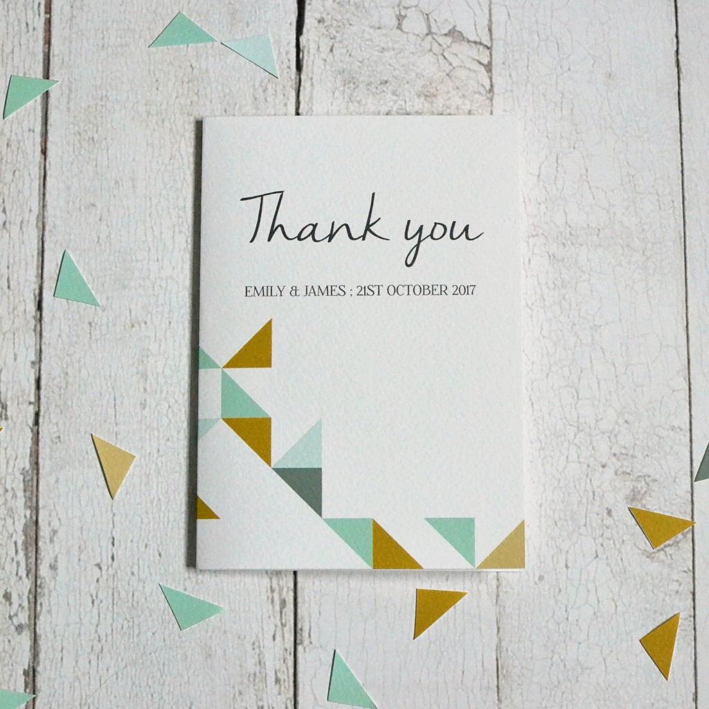 Geometric Patterns Thank you card