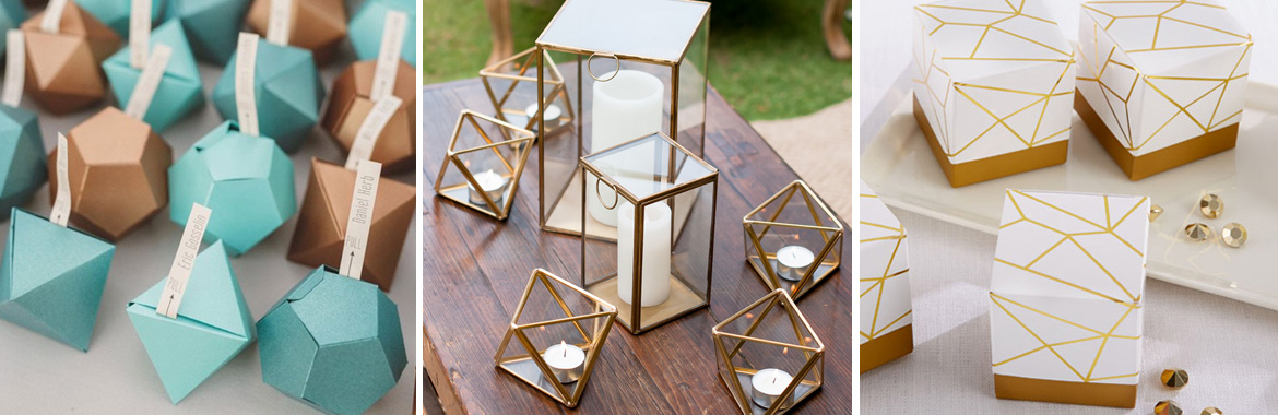 geometric wedding ideas