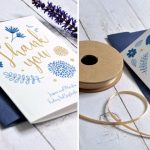 Blue and Gold wedding invitation and stationery
