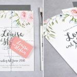 watercolour wedding invitation