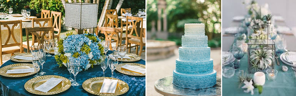 blue green wedding colour scheme