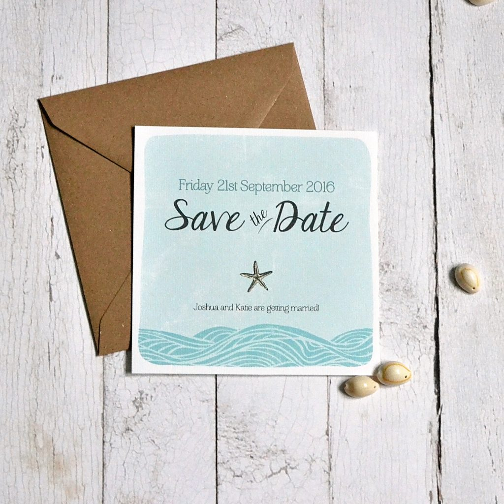 coastal wedding save the date card