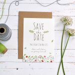 spring wedding save the date card