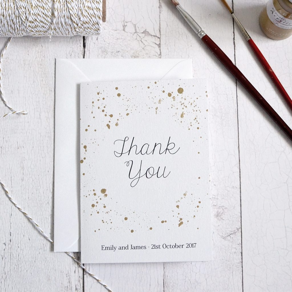gold details thank you card