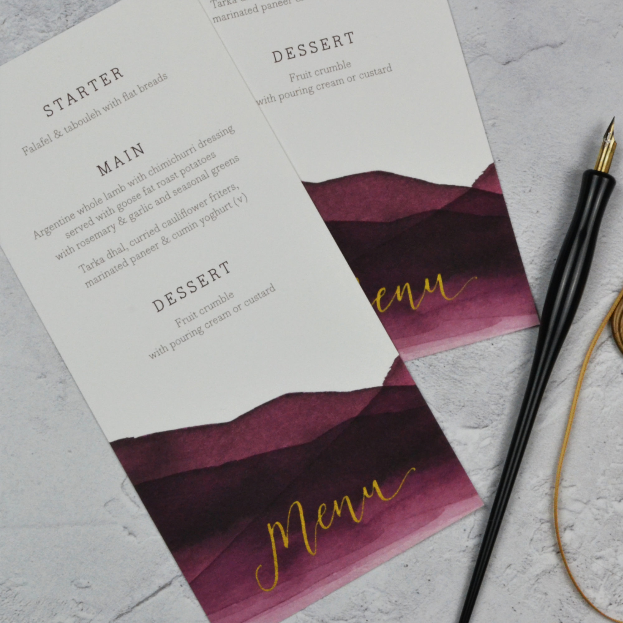 theatrical wedding stationery